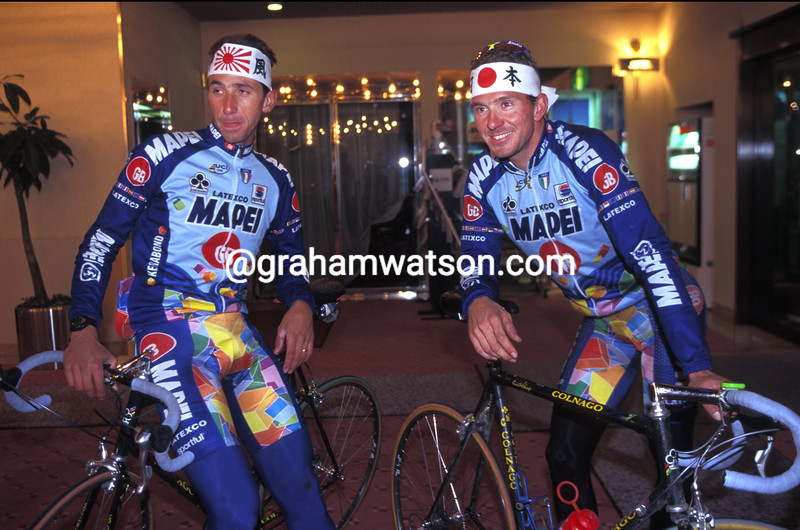 JOHAN MUSEEUW AND ANDREA TAFI IN THE 2000 JAPAN CUP