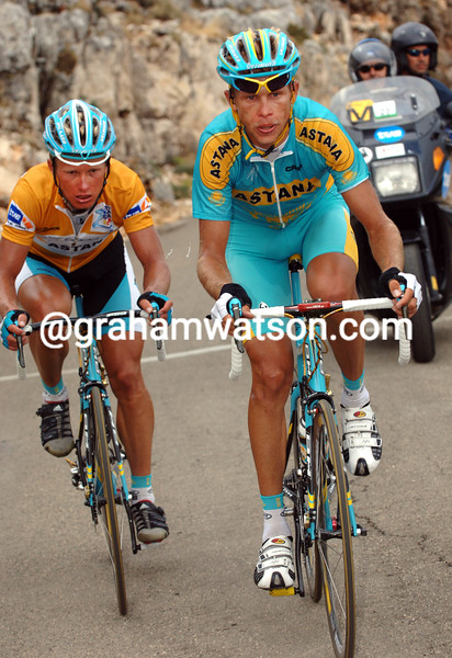 ANDREY KASHECHKIN AND VINOKOUROV IN THE 2009 TOUR OF SPAIN