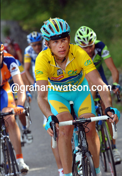 ANDREY KASHECHKIN AS RACE-LEADER OF THE 2007 DAUPHINE-LIBERE