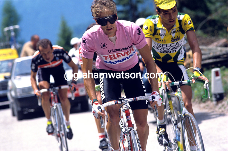 Andy Hampsten in the 1988 Giro d'Italia