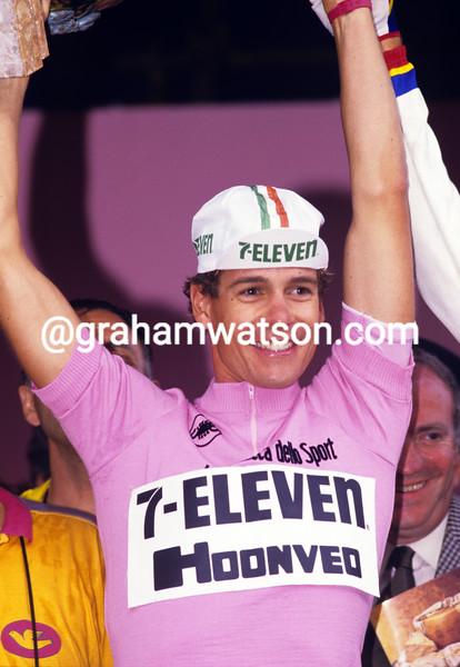 Andy Hampsten in the 1988 Giro d'Italia