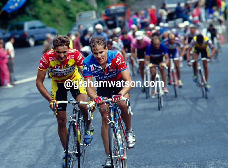 Andy Hampsten in the 1992 Giro d'Italia