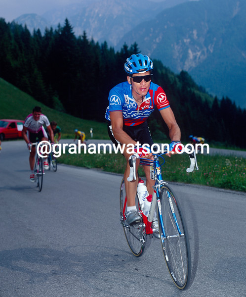 Andy Hampsten in the 1992 Giro d'Italia