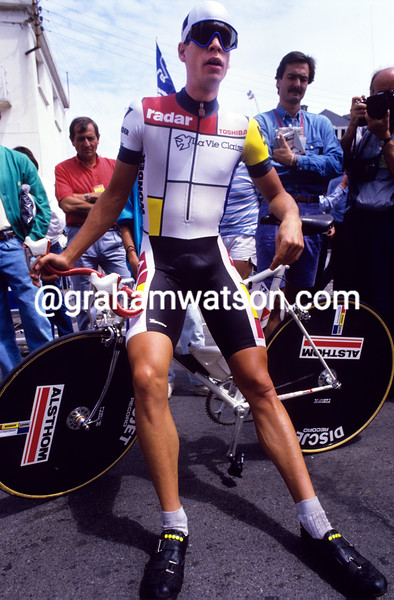 Andy Hampsten in the 1985 Tour de France