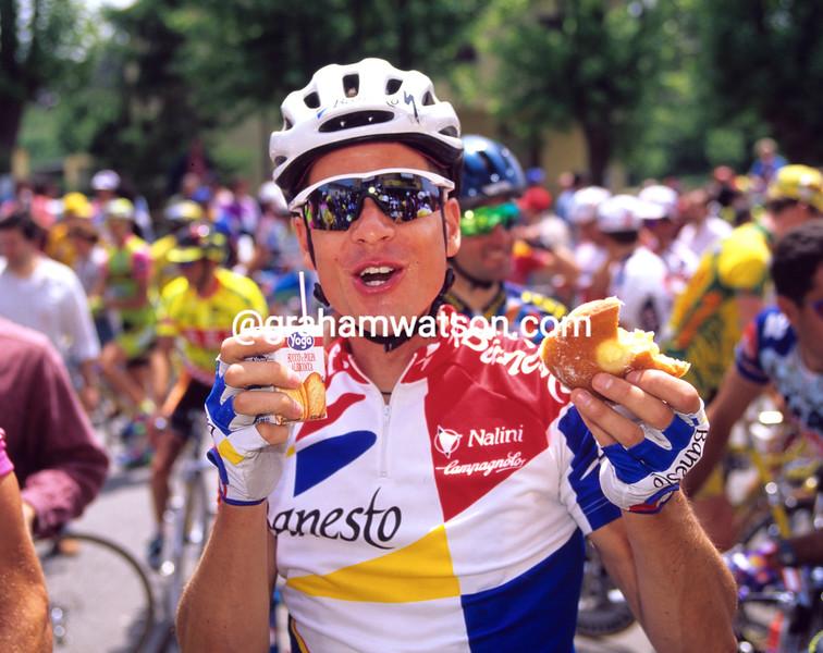 Andy Hampsten in the 1995 Giro d'Italia