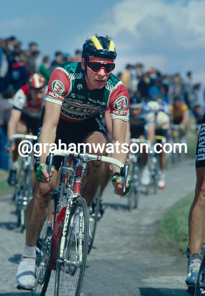 Andy Hampsten in the 1989 Paris-Roubaix