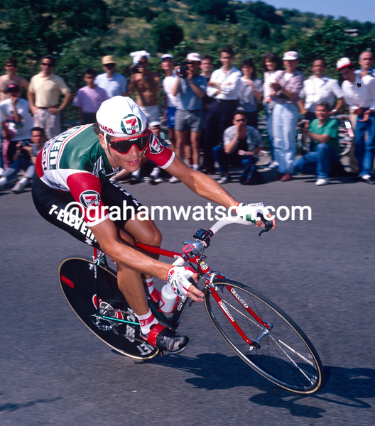 Andy Hampsten in the 1987 eleven Tour de France