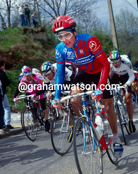 Andy Hampsten in the 1991 Fleche Wallonne