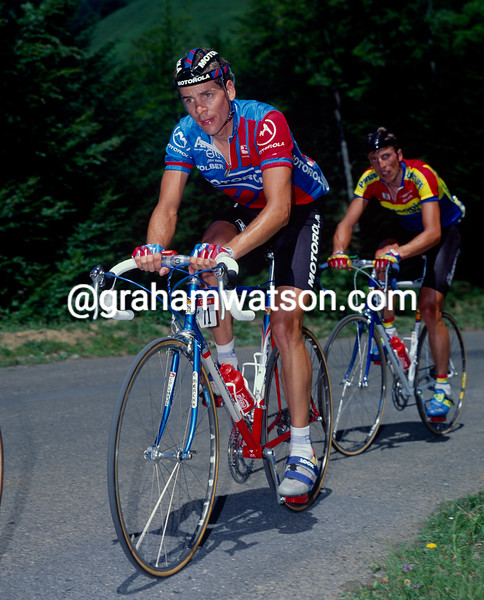 Andy Hampsten in the 1991 Tour de France