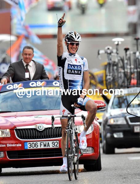 ANDY SCHLECK WINS THE 2009 LIEGE-BASTOGNE-LIEGE