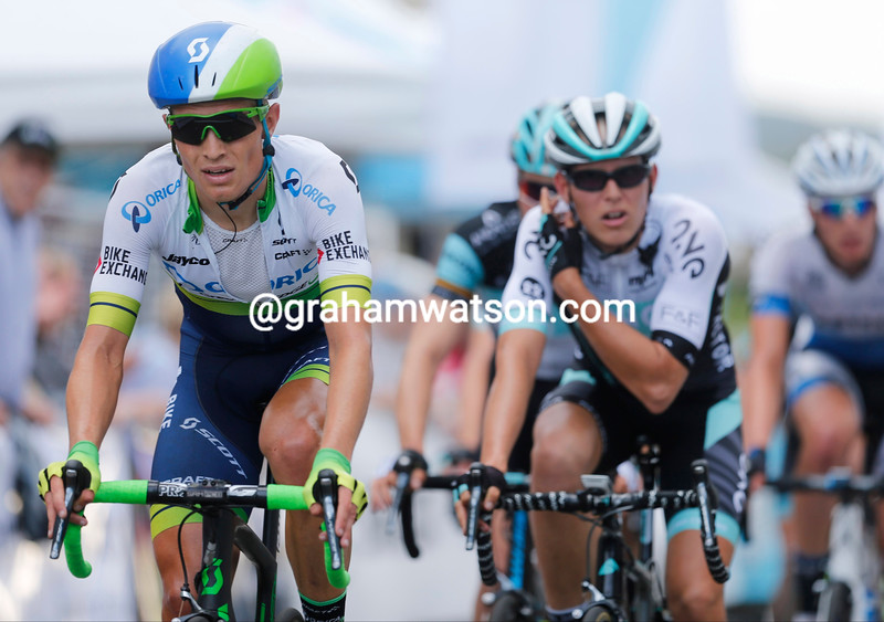 Alex Edmondson on stage five of the Tour of Luxembourg