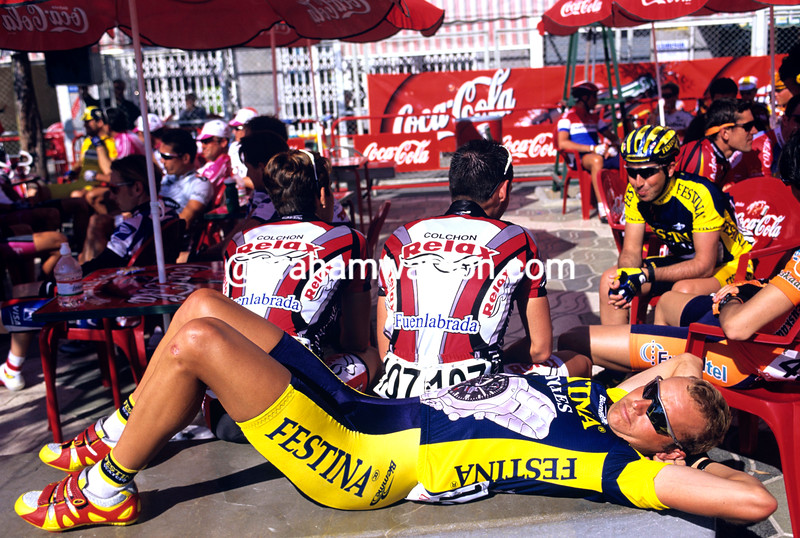 Jonathan Hall before a stage of the Ruta del Sol
