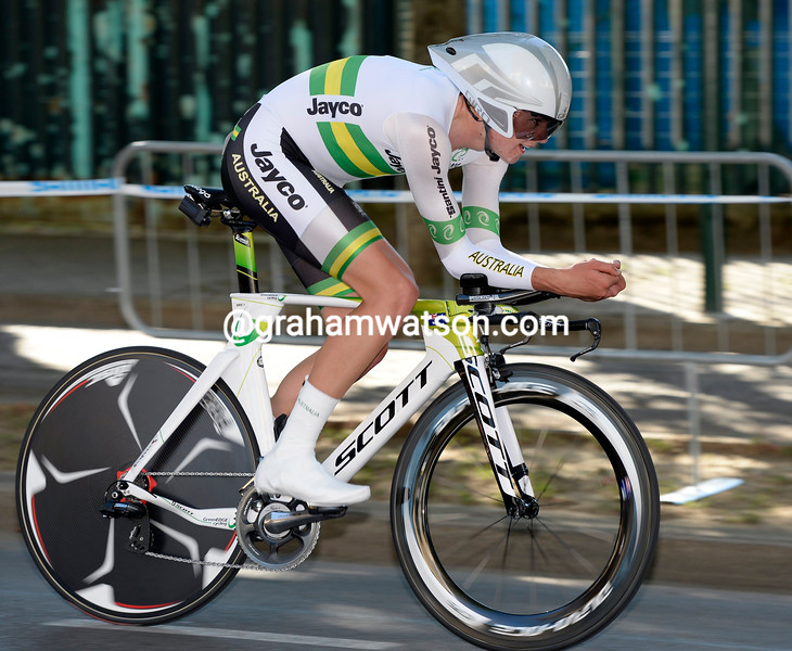 Campbell Flakemore in the mens U-23 TT World Championship 2013