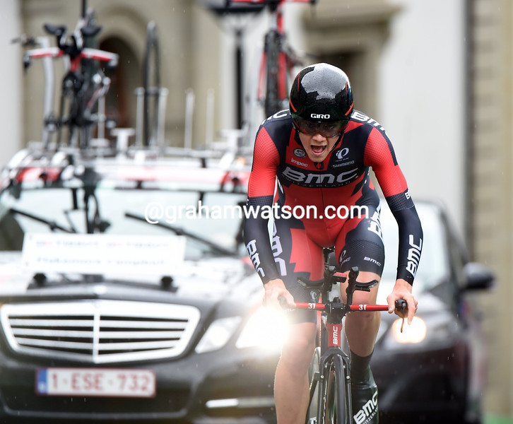 Campbell Flakemore on stage six of the 2015 Tour de Romandie
