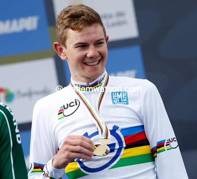 Campbell Flakemore in the U-23 mens TT at the 2014 World Road Championships