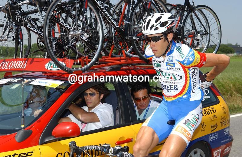Trent Wilson in the 2005 Giro d'Italia
