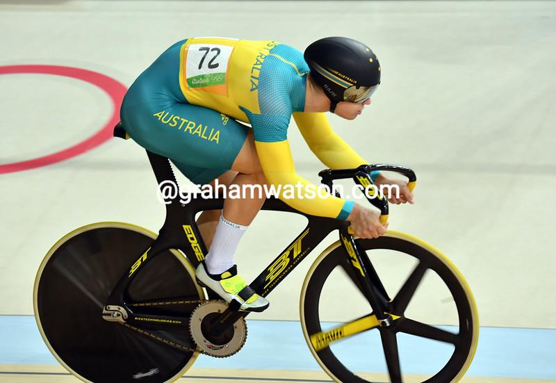 Max Glaetzer in the 2016 Olympics mens Kierin