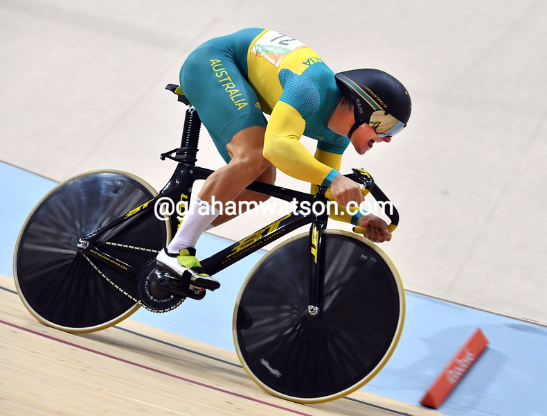 Max Glaetzer in the mens sprint at the 2016 Olympic Games
