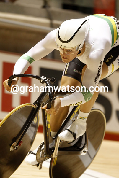 Matthew Glaetzer in the Mens Sprint competition at the 2012 World Championship
