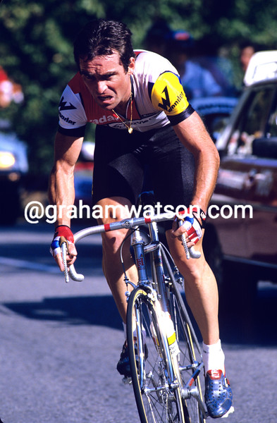 Bernard Hinault in the 1985 G.P. des nations