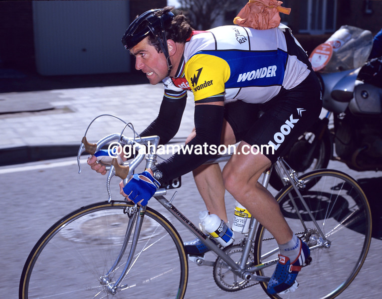 Bernard Hinault in the 1984 Ghent-Wevelgem