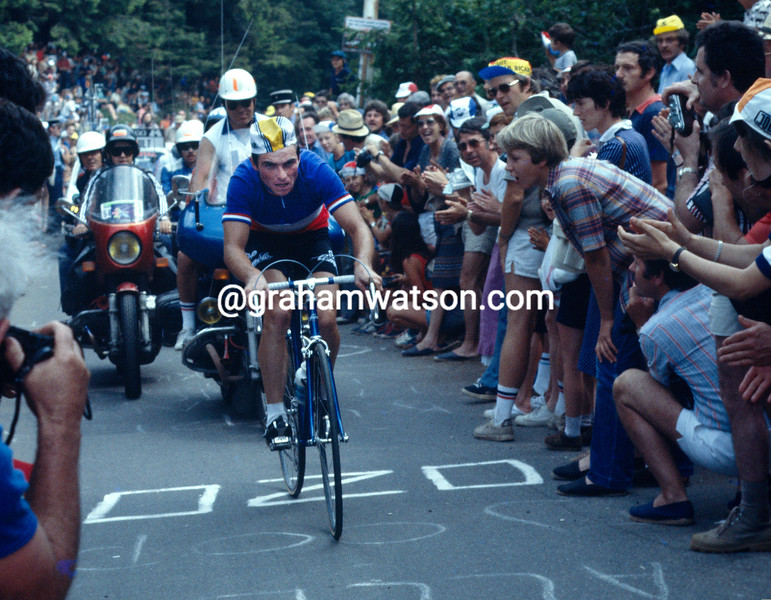 Bernard Hinault climbs the Puy de Dome in the 1978 Tour de France