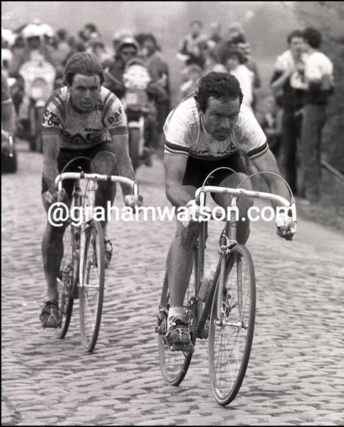 BERNARD HINAULT IN THE 1981 PARIS-ROUBAIX