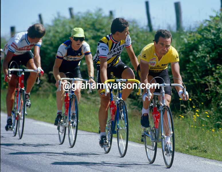 Bernard Hinault in the Tour de France in 1985
