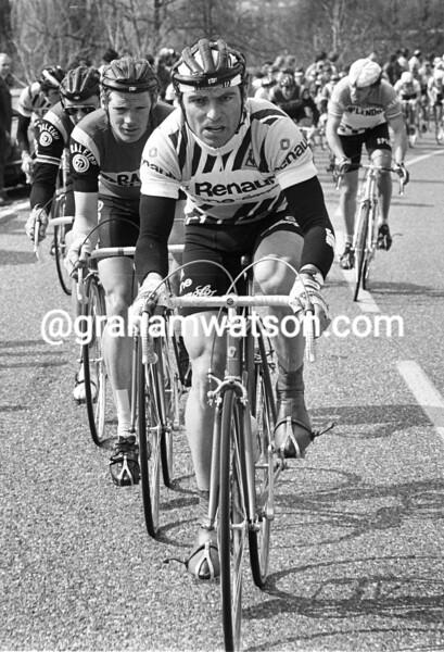 Bernard Hinault in the 1983 Amstel Gold Race