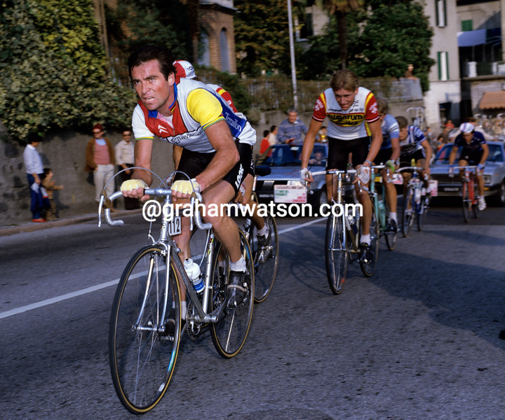 Bernard Hinault in the 1984 Giro di Lombardia