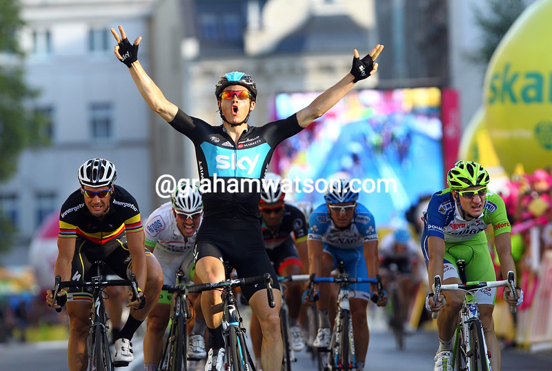 Ben Swift wins Stage Two of the 2012 Tour of Poland