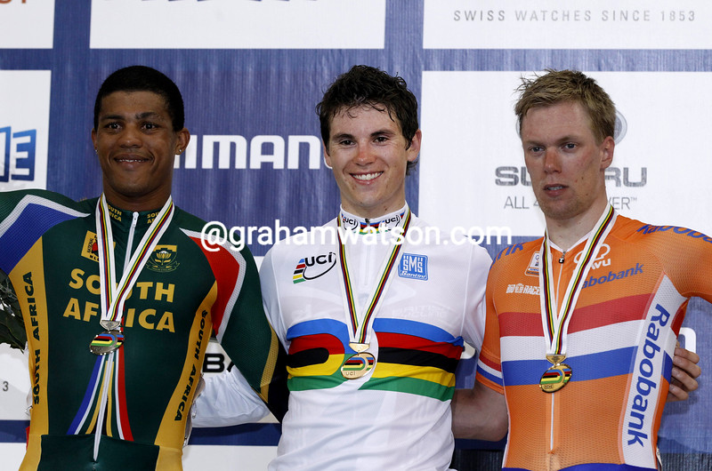 Ben Swift wins the scratch race at the 2012 World Track Championships