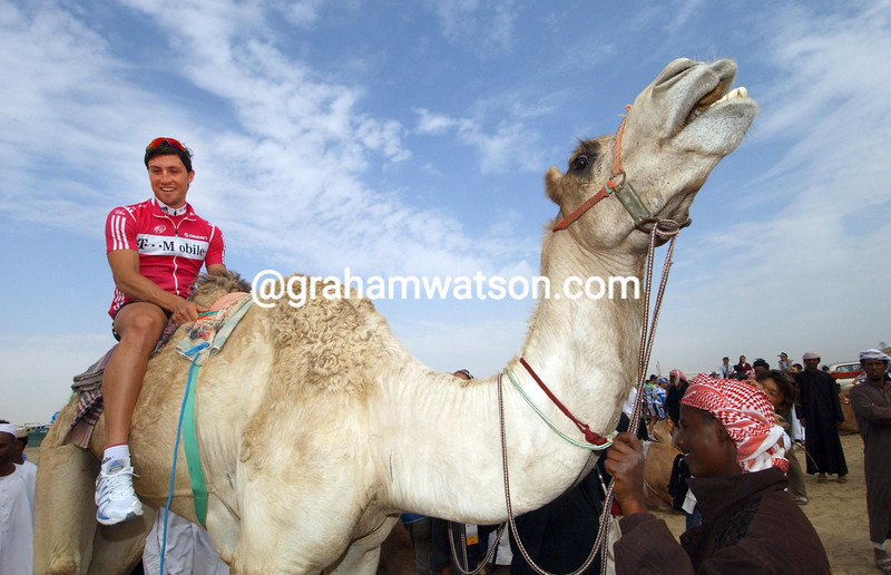 BERNHARD EISEL BEFORE STAGE FOUR OF THE 2007 TOUR OF QATAR