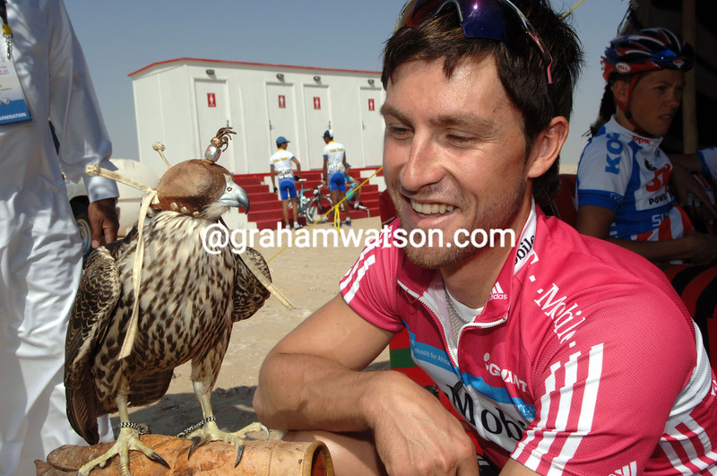 BERNHARD EISEL BEFORE A STAGE OF THE TOUR OF QATAR