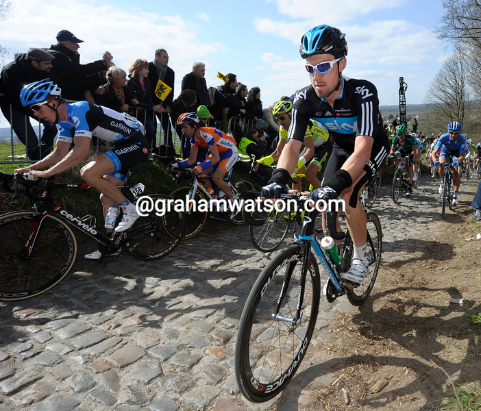Bernhard Eisel in the 2012 Tour of Flanders