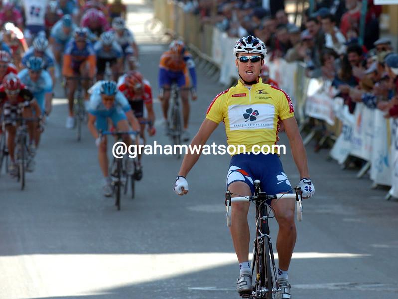 Bernard Eisel wins a stage of the 2005 Volta a Algarve