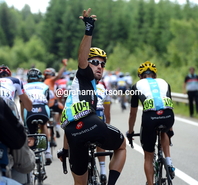 Bernhard Eisel on stage one of the 2012 Tour de France