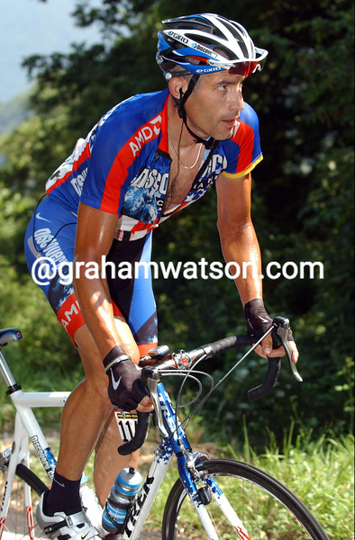 GEORGE HINCAPIE ON STAGE TEN OF THE 2007 GIRO D'ITALIA