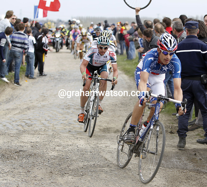 GEORGE HINCAPIE IN PARIS-ROUBAIX