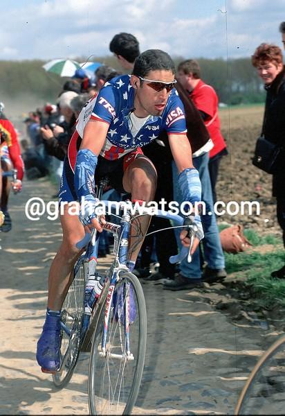 George Hincapie in the 1999 Paris-Roubaix