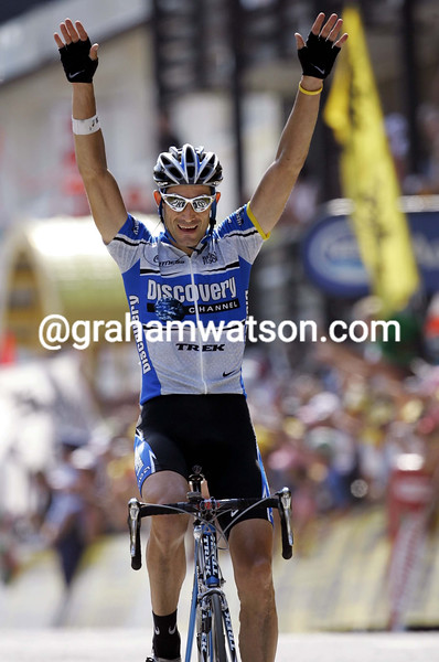 George Hincapie wins a stage of the 2005 Tour de France