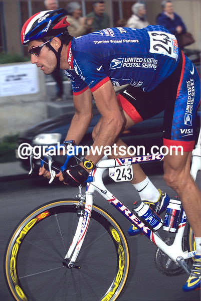 George Hincapie in the 2002 Milan-San Remo