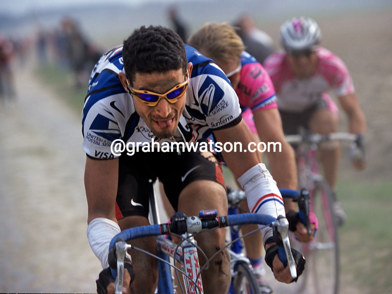 George Hincapie in the 2000 Paris-Roubaix