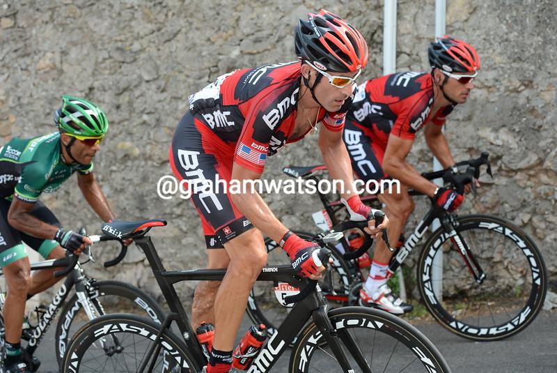 George Hincapie on stage thirteen of the 2012 Tour de France