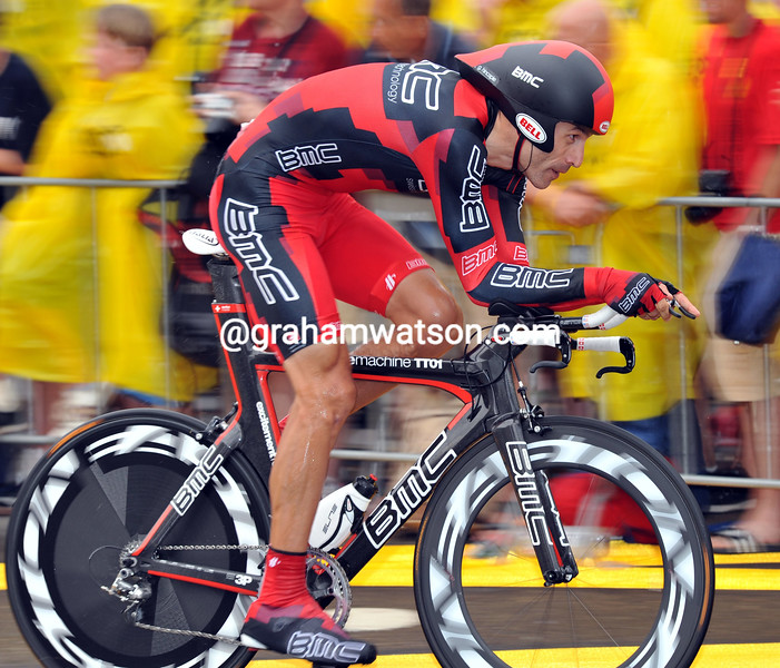 GEORGE HINCAPIE IN THE PROLOGUE OF THE 2010 TOUR DE FRANCE