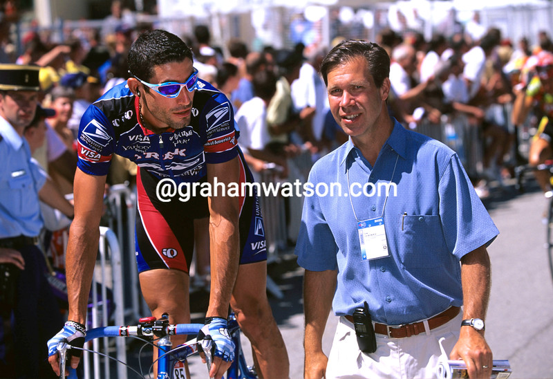 George Hincapie with Jim Ochowicz in the 1999 Tour de France
