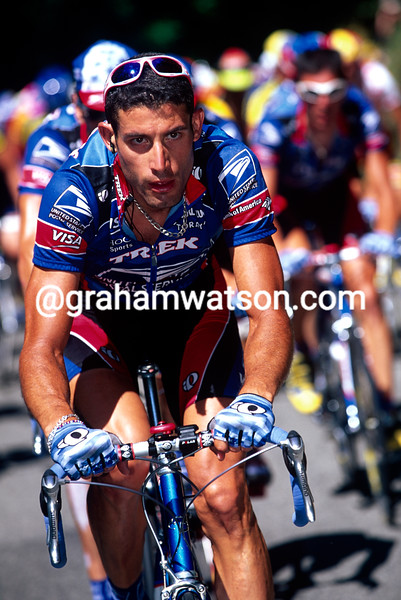 George Hincapie on a stage of the 1999 Tour de France