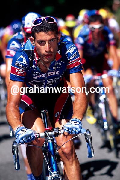 George Hincapie on a stage of the 1999 Tour de France
