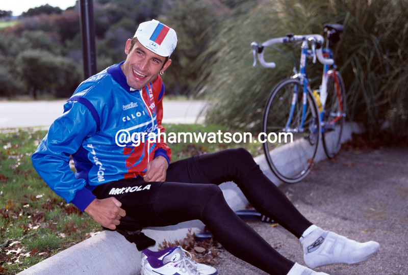 George Hincapie at a training camp in 1994