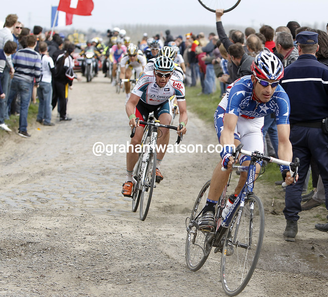 GEORGE HINCAPIE IN THE 2010 PARIS-ROUBAIX